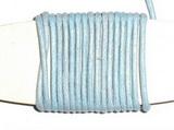 Voskovaná šňůrka světle modrá - cena za 1m