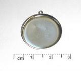 Lůžko na šperky kulaté+očko, 27x4mm - PLATINA