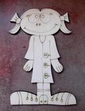 2D výřez holčička jaro - 12x8cm
