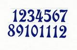 Čísla na hodiny nalepovací-ozdobná v.1,9cm TM.MODRÁ