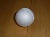 Polystyrénová koule bílá pr. 6cm