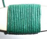 Voskovaná šňůrka tm.zelená - cena za 1m