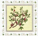 OL 047 - ubrousek 33x33 - olivka ve čtverci