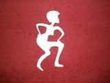 TP2D059 - 2D výřez etno motiv Postava tančící v.14x7cm