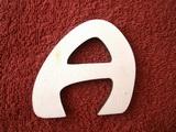 *2D výřez písmeno A v.cca 4,2cm ozd.