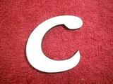 *2D výřez písmeno C v.cca 4,2cm ozd.