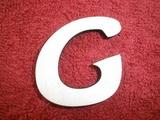 *2D výřez písmeno G v.cca 4,2cm ozd.