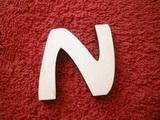 *2D výřez písmeno N v.cca 4,2cm ozd.