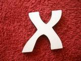 *2D výřez písmeno X v.cca 4,2cm ozd.