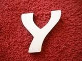 -2D výřez písmeno Y v.cca 7cm ozd.