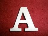 +2D výřez písmeno obyč.  v.cca 4,2cm - A