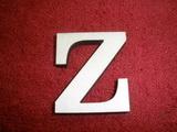 +2D výřez písmeno obyč.  v.cca 4,2cm - Z