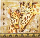 ET 037 - ubrousek 33x33 - žirafy africa