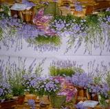 BY 074 - ubrousek 33x33 - levandule na sv.fialovém