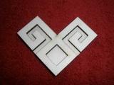 Razítko překližka znak kosočtverec - v.6,2x8,3cm
