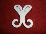 Razítko překližka znak motýl - v.6,6x5,6cm