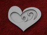 Razítko překližka vlny v srdci - v.8x10,5cm