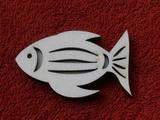 Razítko překližka ryba č.3 - v.4x6,6cm