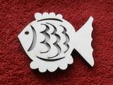 Razítko překližka ryba č.4 - v.5,2x6,2cm