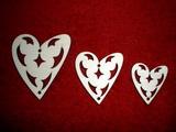 Sada girlanda 3ks - srdce-prořízlé ornamenty