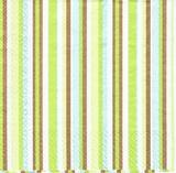 OS 010 - ubrousek 33x33 - proužek zeleno-hnědý