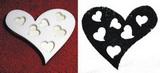 Razítko srdce-prořízlá srdíčka v. 7x8,3cm