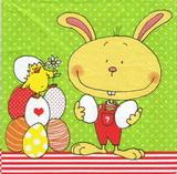 DE 299 - ubrousek 33x33 - zajíček s vajíčky
