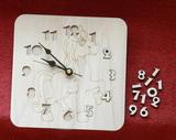 3D hodiny KONÍK 19,5x19,5cm