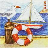 MO 086-ubrousek 33x33 -racek+plachetnice