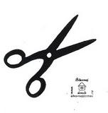 Razítko překližka nůžky -v.3x5,5cm