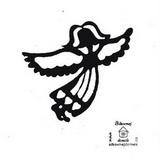 Razítko překližka anděl s křídly-v.10x9,5cm