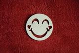2D výřez smajlík usměváček 2srd. - pr.7cm