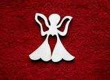 2D výřez anděl se srdíčkem - v.7x7cm