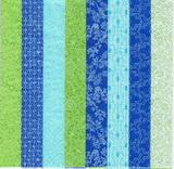 OS 147-ubrousek 33x33 - zeleno-modrý mix