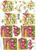 3D papír - tulipán+narcis č.186