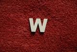 2D výřez písmeno W v.cca  2,4cm