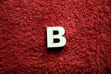 2D výřez písmeno B v.cca 2,4cm