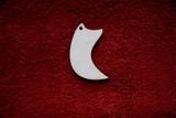 2D výřez šperk /přívěsek/ zahnutý roh -v.4,5x2,4cm