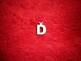 2D výřez písmeno Ď v.cca 1,7cm