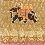 ET 022 PPD - ubrousek 33x33 - etno černý slon-balení 20ks