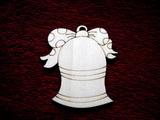 2D výřez zvonek s mašlí čistý V-v.7x6,5cm