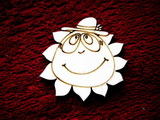 2D výřez sluníčko kluk- pr.cca5,4cm