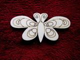 2D výřez motýlek č.4 - v.5x10cm