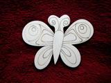 2D výřez motýlek č.3 - v.8,5x11cm