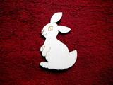 2D výřez zajíček -cca v. 10x6,5cm