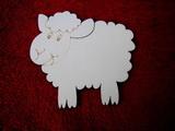 2D výřez ovečka vel.- cca v. 13x14cm