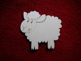 2D výřez ovečka vel.- cca v. 10x10,5cm