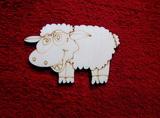 2D výřez ovečka cel.- cca v.6,2x10cm