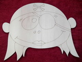 MAXI dekorace hlava holčičky námořnice-v.24x30cm