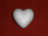 Polystyrenové srdce cca 6cm